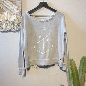 O'neill Oversize Gray Graphic Print Thermal Sz XS
